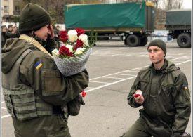 В Бердянске нацгвардеец сделал предложение своей коллеге, которая вернулась с войны
