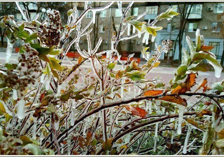 В Запорожье - морозное утро (фото)