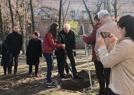 Представники ЗНУ разом зі школярами висадили нащадків запорізького дуба