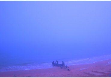 В Запорожской области на море – синий туман