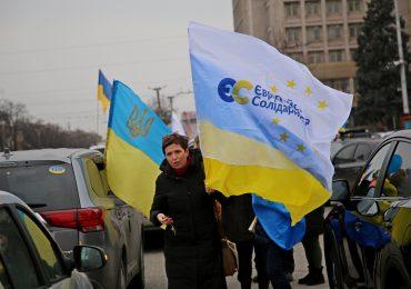 Автопробег ко Дню Соборности Украины в Запорожье (фото)
