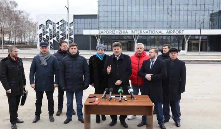 Власть Запорожья потребует разблокировать работы на пассажирском терминале Запорожского аэропорта