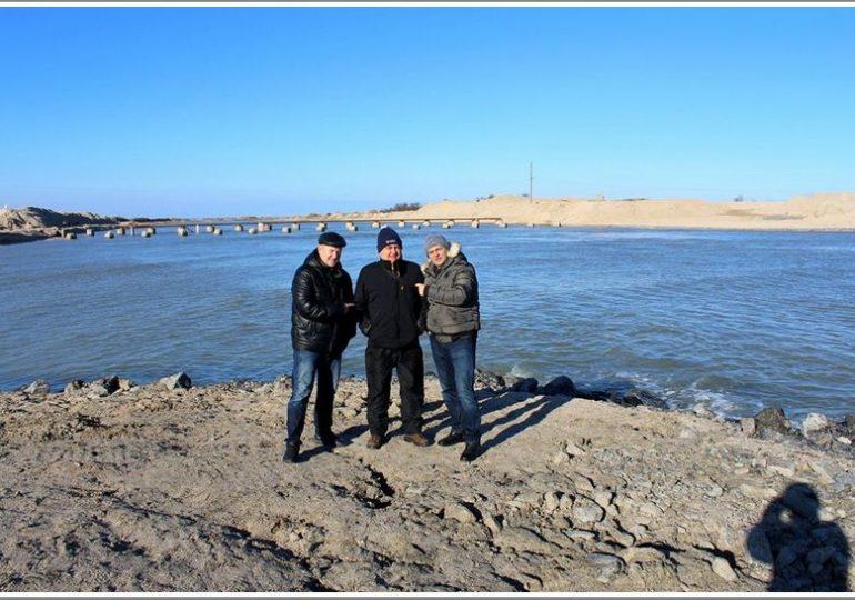 В Запорожской области Молочный лиман заполняется водой из Азовского моря