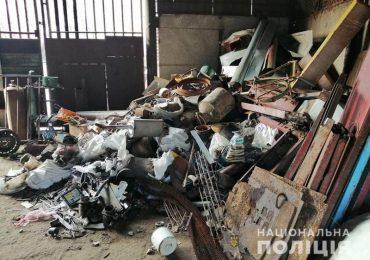 У Запорізькій області поліцейські вилучили близько 4 тон металобрухту
