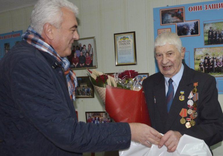 Почетного гражданина Энергодара поздравили с 90-летием