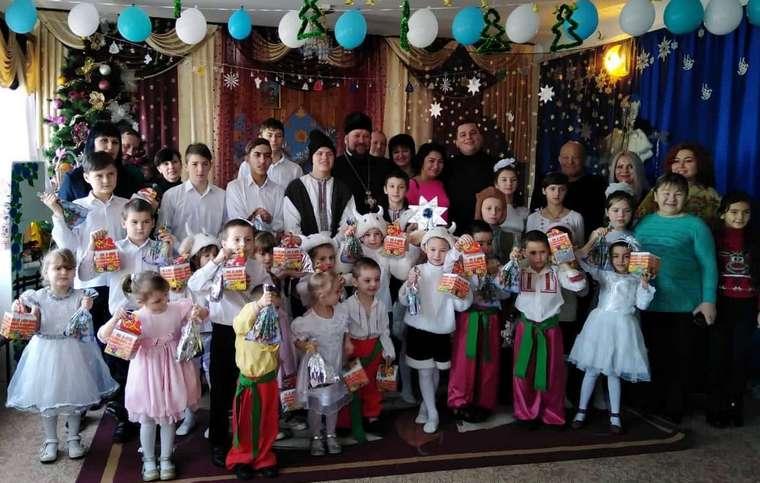 В Мелитополе поздравили с рождеством детей, лишенных родительской опеки