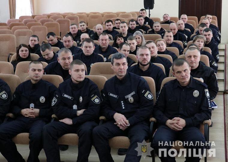 В Запорожье отметили 8 бойцов батальона полиции особого назначения «Скиф»