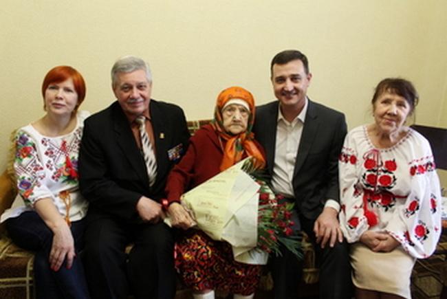 Жительницу Мелитополя поздравили со столетним юбилеем