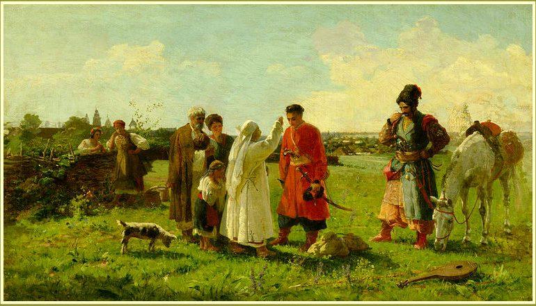 Как художник из Бердянска проводы на Сечь изобразил