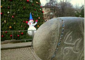 Запорожцы отмечают Рождество на площади Маяковского
