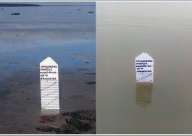 В Запорожской области Молочный лиман заполняется водой из Азовского моря (фото)