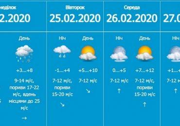 В Запорожской области неделя начнется с дождя