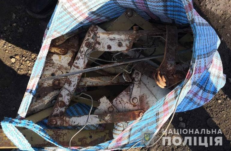 В Мелитопольском районе полицейские изъяли около 1,5 тонны металлолома