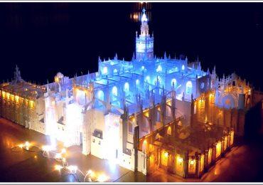 В Мелитополе создали из бумаги и света... готический собор святой Марии