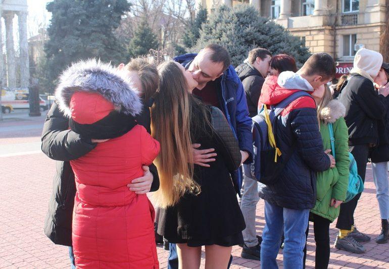 В Запорожье отпраздновали День всех влюбленных