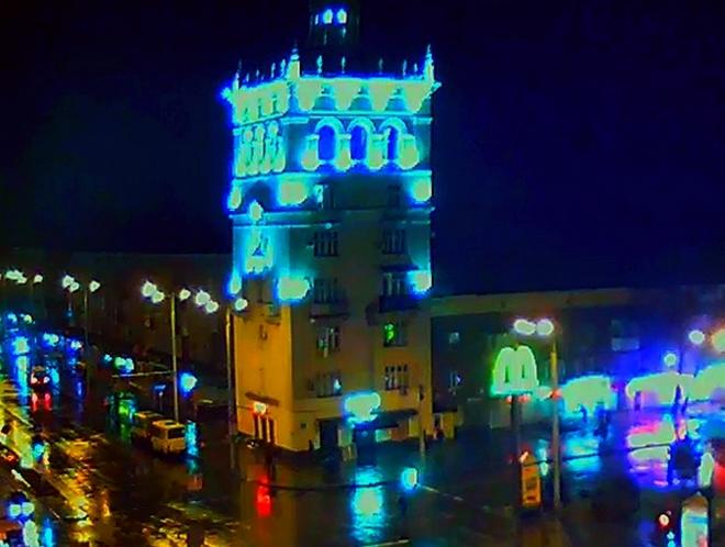 В Запорожье - дождливое утро (фото)