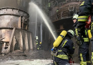 Запорожские пожарные ликвидировали возгорание трансформатора на ЧАО «Днепроспецсталь»