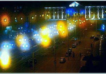 Запорожье вечером: город огней (фото)