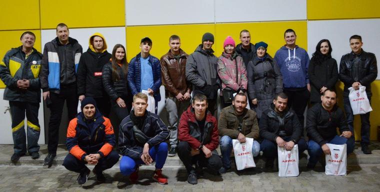 В Бердянске водители прятались друг от друга