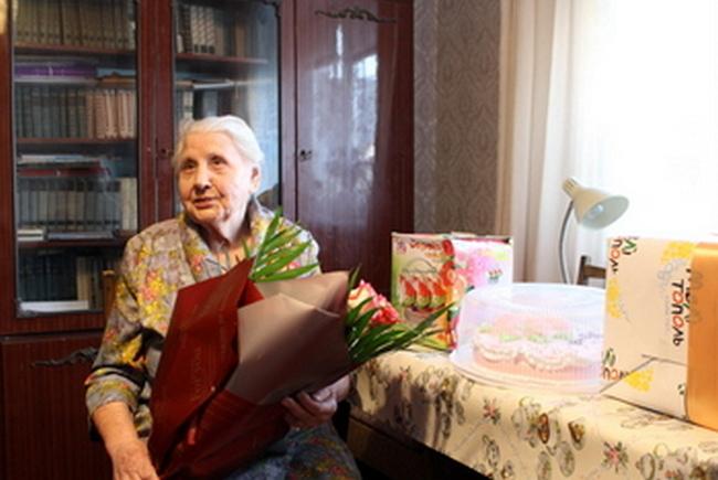 В Мелитополе поздравили с 95-летием со дня рождения участницу Второй мировой войны