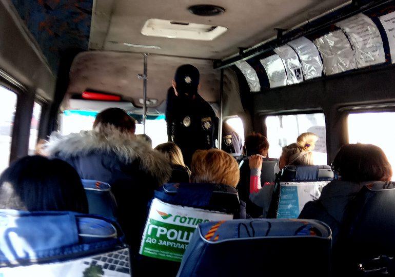 Первый день сурового пропускного режима в транспорте Запорожья (фото, видео)