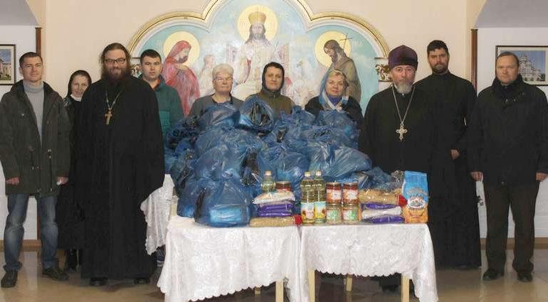 В Запорожье в Покровском храме собрали продуктовые наборы для нуждающихся