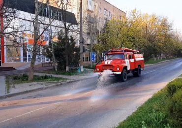 В Запорожской области спасатели проводят дезинфекцию улиц