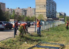 В Запорожье демонтировали незаконно установленную автостоянку