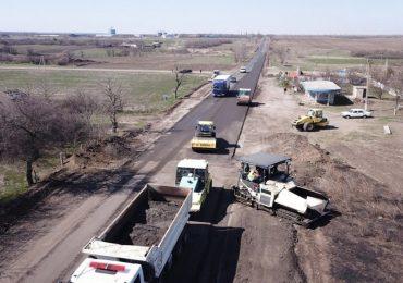 Тривають ремонтні роботи на автодорозі Василівка - Бердянськ