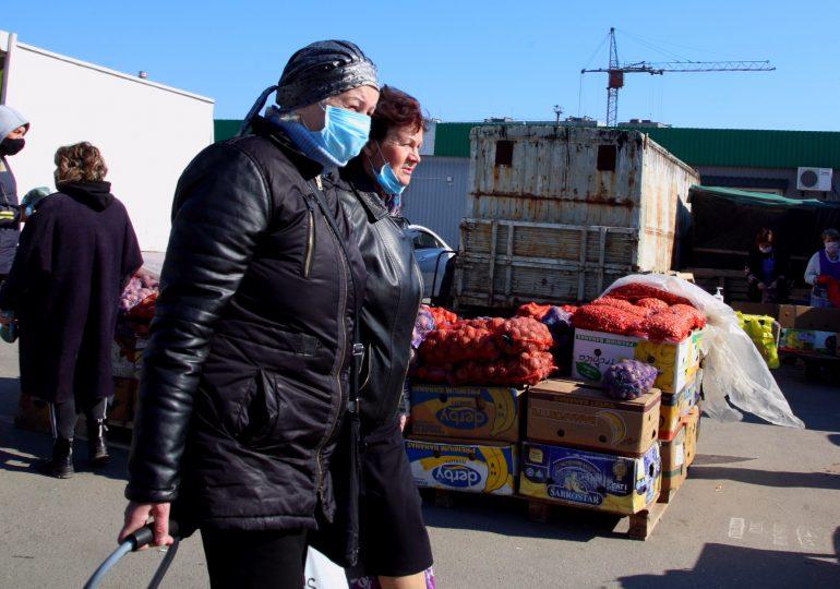 В Запорожье карантин. Оптовый рынок. Цены на овощи и фрукты (фото видео)