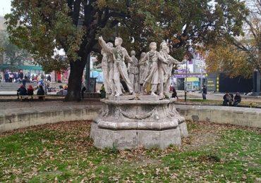 В Запорожье продолжается реконструкция сквера «Пионеров» (видео, фото)