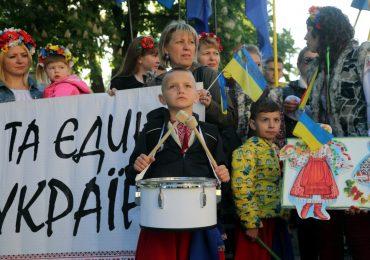Марш вышиванок в Запорожье (фото, видео)