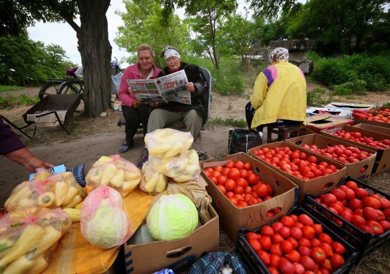 Торговля в запорожской Благовещенке (видео)