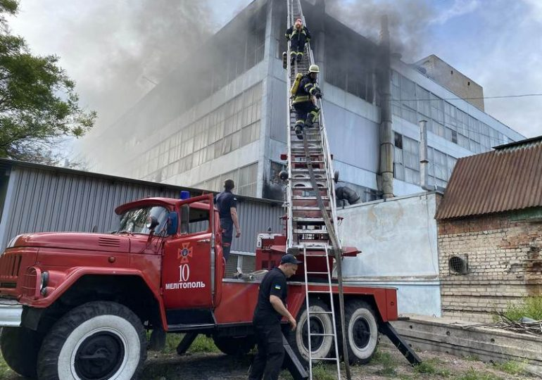 В Запорожье горела  фирма «МИДА» (фото)