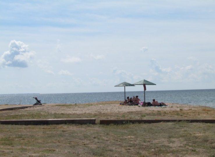 В Запорожской области благоустроили пляж на берегу лимана