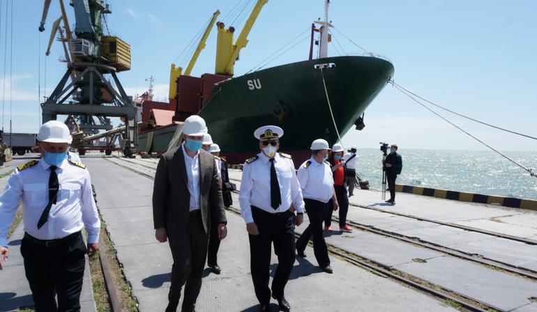 Бердянський порт відвідав міністр інфраструктури