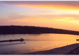 Днепр вечерний в Запорожье (фото)