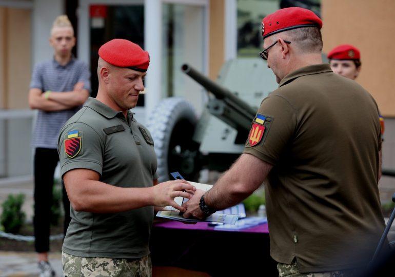 Воины 55-ой отдельной артиллерийской бригады «Запорожская Сечь» вернулись из зоны ООС в Запорожье (фото, видео)