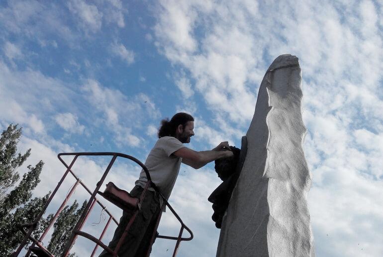 Памятник Пушкину Бориса Чака фото