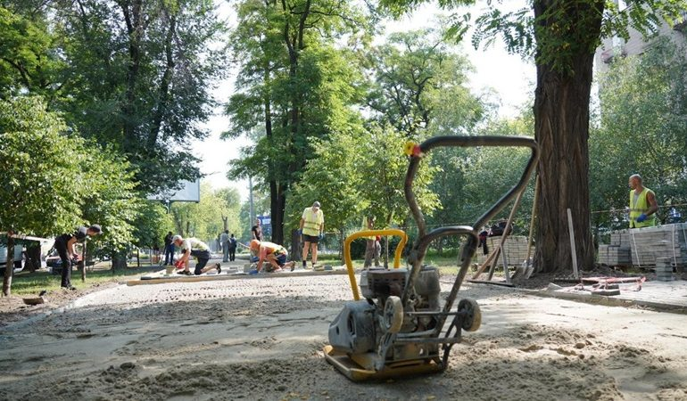 В Запорожье создают современную пешеходную зону