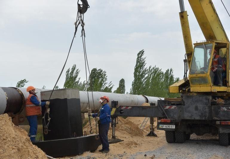 На Запорожской АЭС продолжаются работы по обновлению тепломагистрали «АЭС - город»