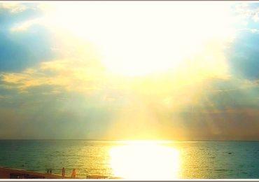 Солнечное утро на море в Запорожской области (фото)