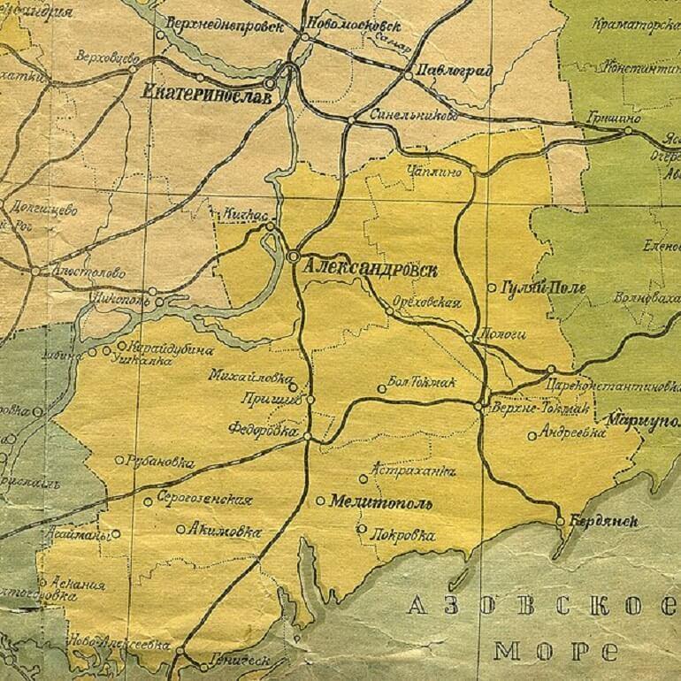 Запорізька губернія карта фото
