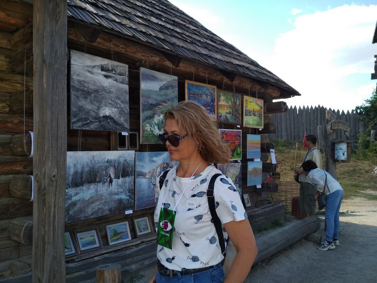 Ольга Харьякова на Хортиці фото
