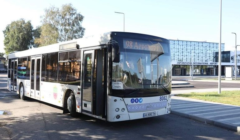 В Запорожье начал работать новый маршрут с большими автобусами