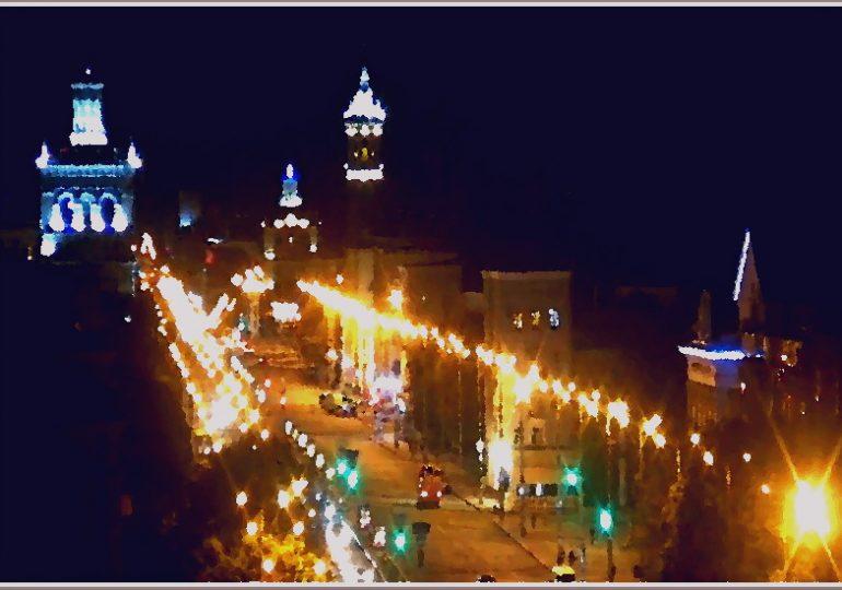 Запорожье ночью (фото)