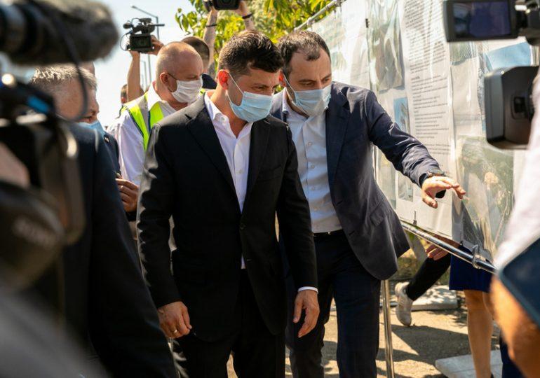 В Запоріжжі  Володимир Зеленський ознайомився с будівництвом мосту