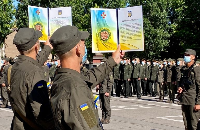 В Запорожье приняли присягу воины Национальной гвардии