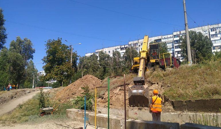 В Днепровском районе Запорожья проводят масштабный ремонт