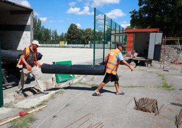 В Запорожье для гимназии создают современную спортивную площадку